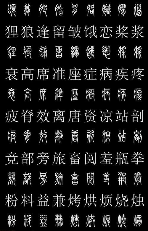 篆体(中国汉字书法四体之一)